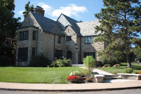 This meticulously maintained stone home and yard at 54 Crocus Place is known as the Aberle House.