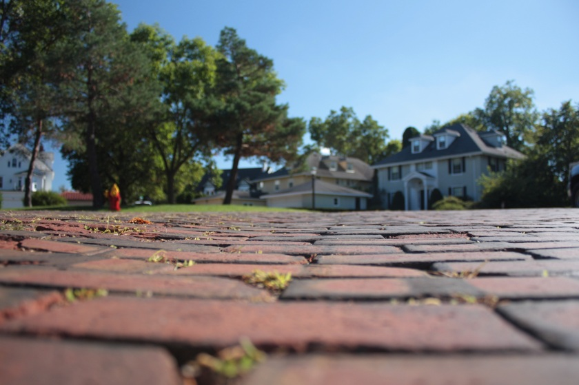 Kenwood Parkway is another of the Saint Paul streets with a brick surface