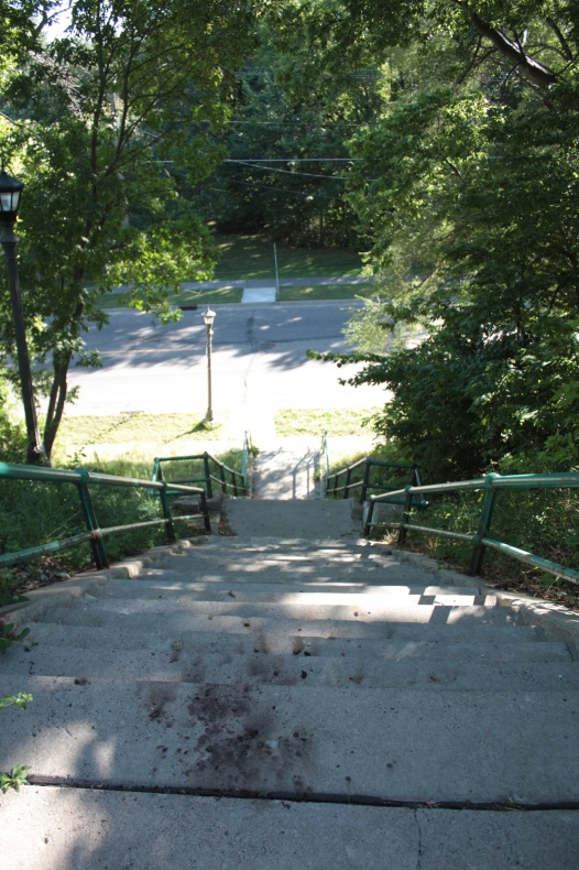 At the south end of Grotto Street are 56 steps that take you down to St. Clair Avenue.