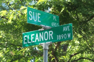 Sue meets Eleanor in Highland Park.