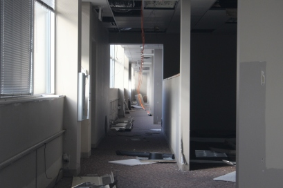 Copper wiring and other valuables have been removed as demolition draws near.