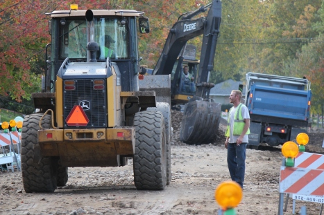 Sewer separation construction on West Wordsworth Avenue.
