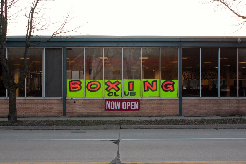 boxing sign