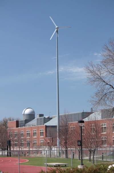 Macalester had the windmill installed in 2003.