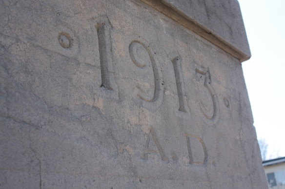 The cornerstone of Central Baptist.)