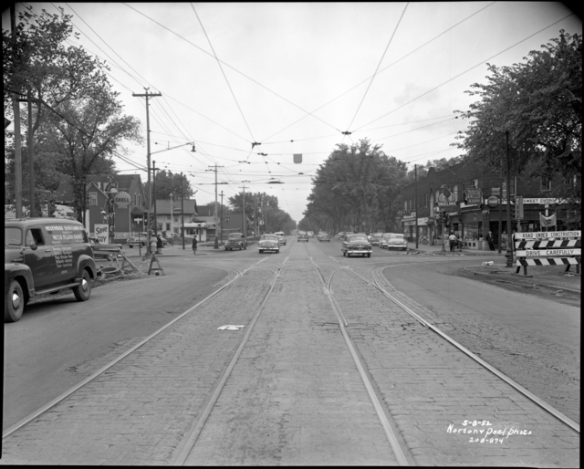 This is how Snelling Avenue at St. Clair looked in 1952.