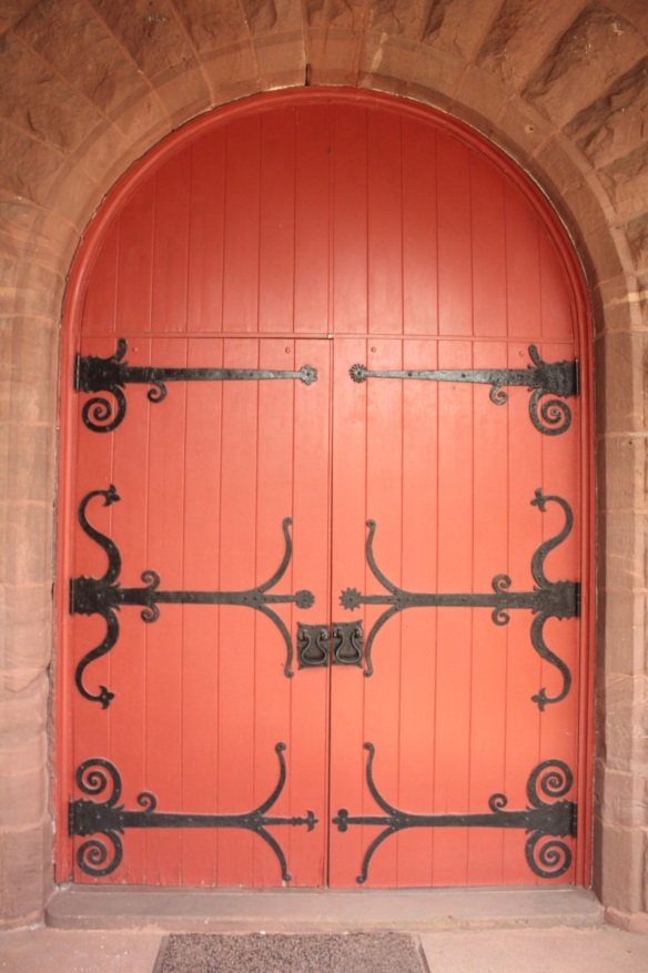 The doors at the main entrance of Dayton Presbyterian.