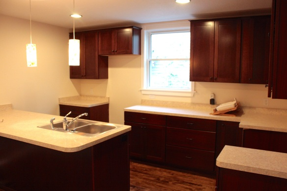The new kitchen.