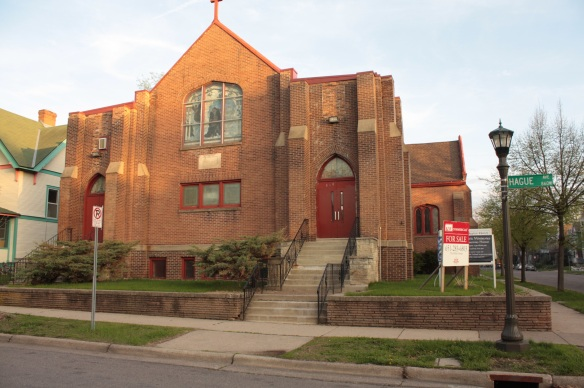 The building at 860 Hague, most recently the Shiloh Missionary Church, is for sale. It was built in 1909.
