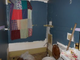 One of the bathrooms prior to renovation.