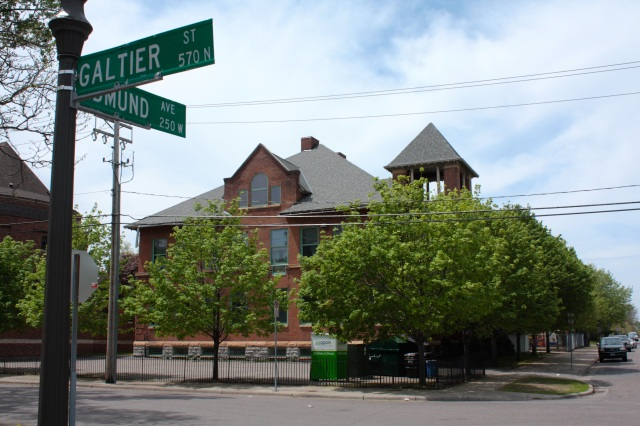 The St. Paul City School, a charter school, is on Edmund Street between Galtier and Elfelt Streets. Although the school bell is gone, the tower remains intact.