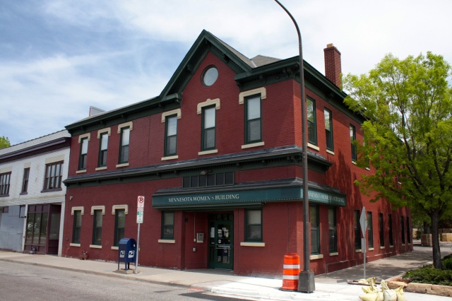 The Minnesota Women's Building, 550 Rice at Charles, dates back to 1889. In 1988, The Minnesota Women's Consortium purchased the building, which had been an adult bookstore or, a 'pornography shop,' as the Consortium's website calls it.
