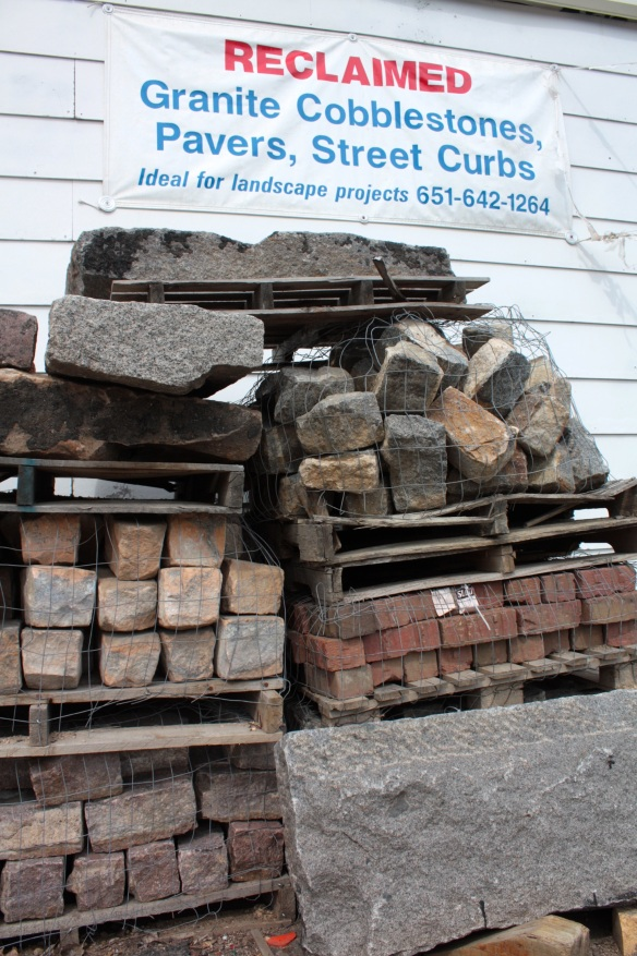 Next time you're in the market for recycled cobblestones, bricks and granite curbs make sure your first stop is 455 Como Avenue at Atwater.