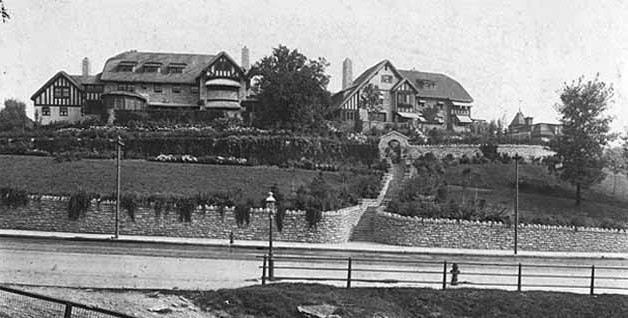 The view of the Goodkind Double House in 1915 from Grand Hill gives you an idea of how different the two homes really are .