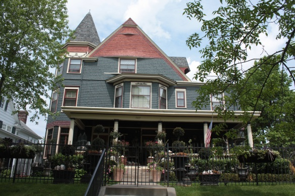 The lovely home and front garden at 767 Goodrich Avenue.