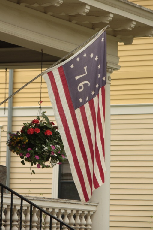This flag, a replica of the Bennington Flag from 1776.