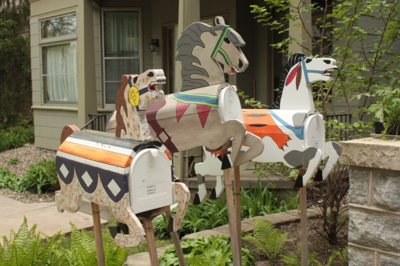 Great mailboxes at 592 Lincoln Avenue
