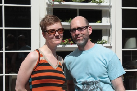 Julie and Steven, owners of one of the condominiums in a former fire house on Wacouta Avenue.