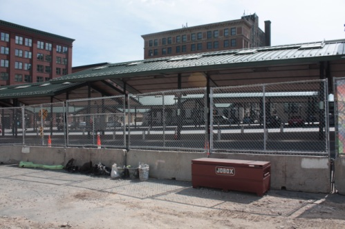 The Saint Paul Farmers Market is across Broadway from the stadium.