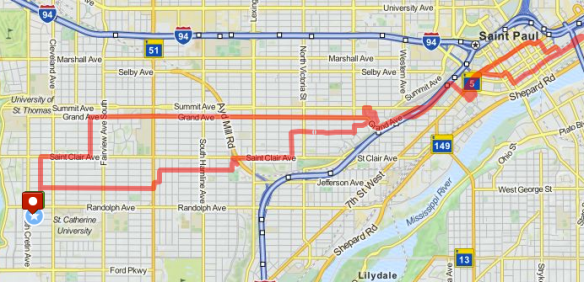 Route Map-Behind the Green Line-May 26, 2014