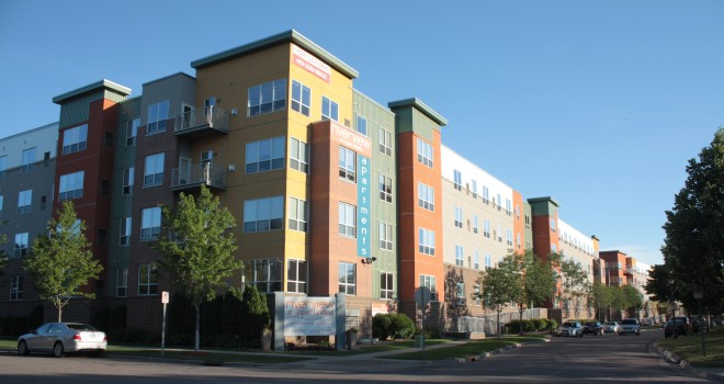 The Riverview at Upper Landing features market-rate apartments at Spring and Mancini Streets.