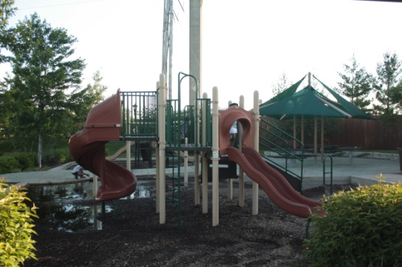 This playground is in one of the two Upper Landing parks.