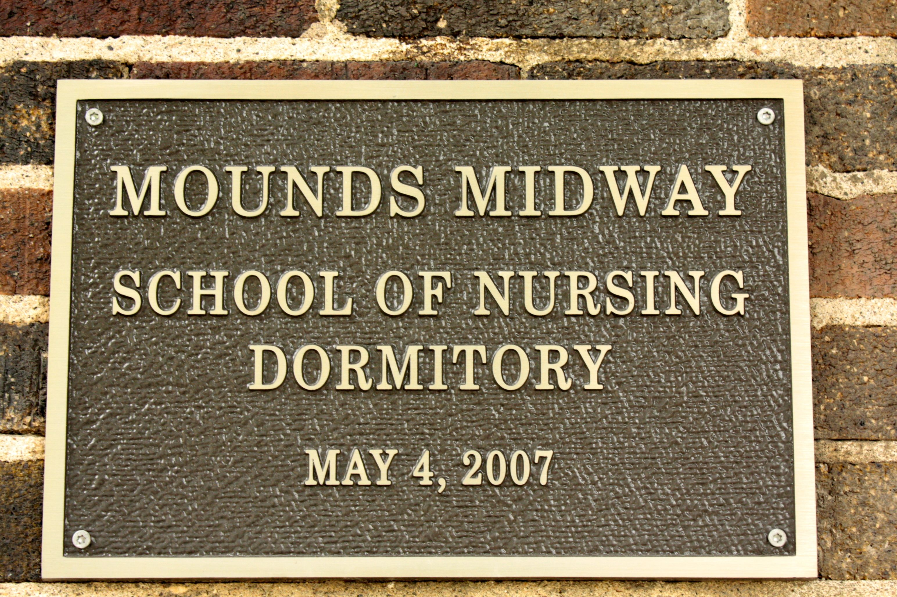 The Plaque Recognizing History Of Former Festival House As A Dorm For Nursing Students