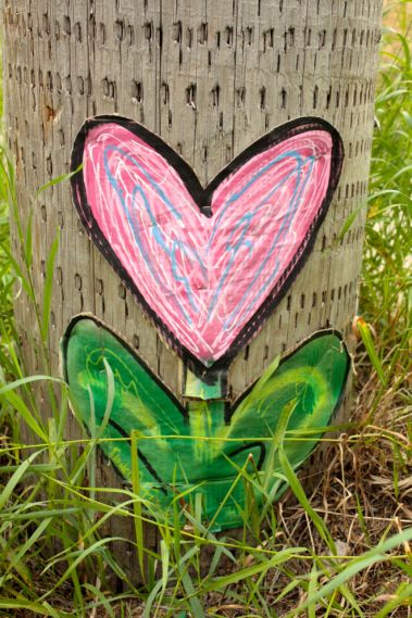 A beautification effort on a utility pole on Prior Avenue.