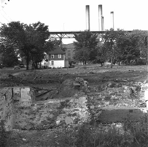 All but one home was gone when this picture was shot in 1960. Courtesy Minnesota Historical Society