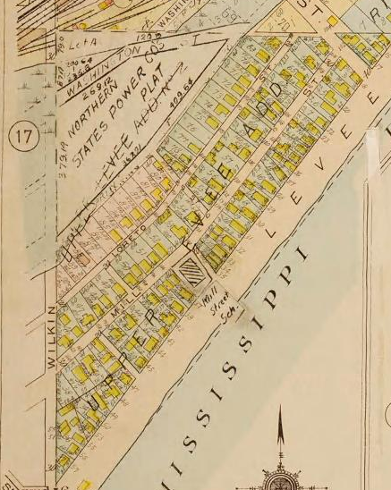 Upper Levee map 1916