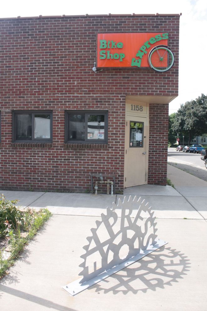 The not-for-profit Express Bike Shop at Selby and Dunlap.