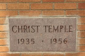 Apparently Christ Chapel, a Pentecostal church, was founded in 1935 and opened this facility a year later. That church, now known as Christ Temple Apostolic Church, is located in Roseville.