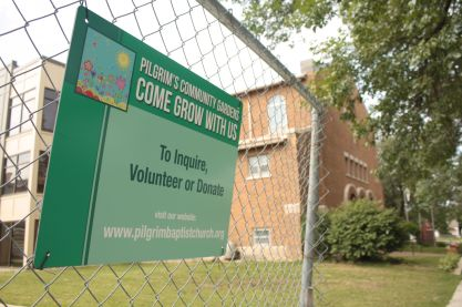 Pilgrim Baptist has a thriving community garden on church property.