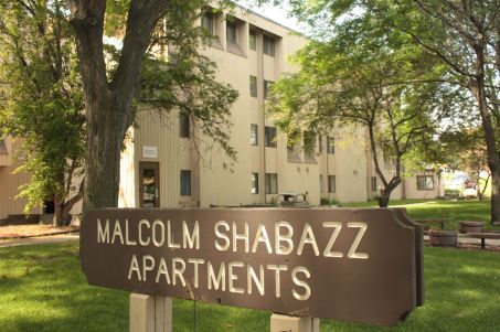 The Malcom Shabbaz Apartments (named for the African-American leader commonly known as Malcom X) are 73 units of affordable rentals at 586 Central Avenue. Originally called Jamestown Homes, the complex was sold last summer and a major rehabilitation of interiors and exteriors is planned for 2016.