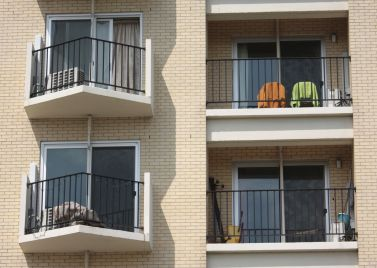Central Hi-Rise features a balcony for every apartment.