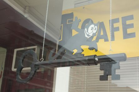 Kat-Keys eye-catching window display.