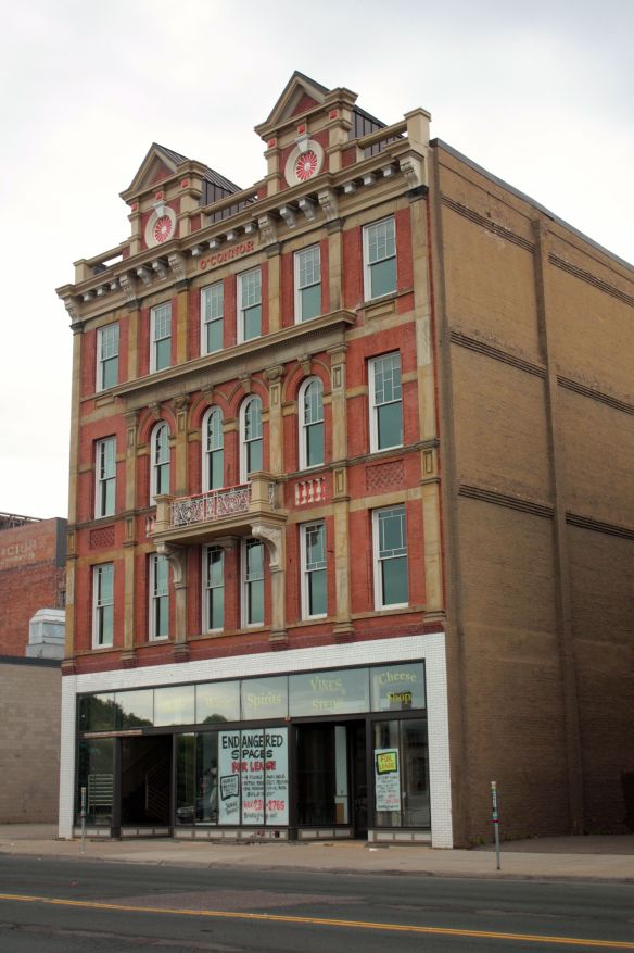 The O'Connor Building, like the two next door, was built in 1888 and has survived more than 125 years nearly intact.