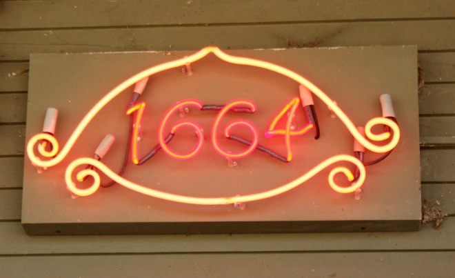 Neon numbers on Hague Avenue.