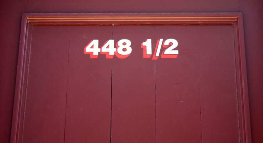 Although uncommon, there are fractional addresses. This one is on a building on St. Peter Street Downtown.