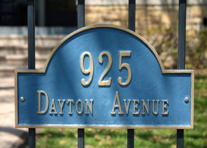 At this Dayton Avenue home, the address number adorns the wrought iron fence.