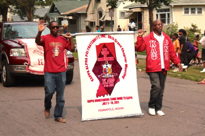 Rondo Days participants come from beyond Saint Paul. The Kappa Alpha Psi fraternity of Indianapolis, Indiana.