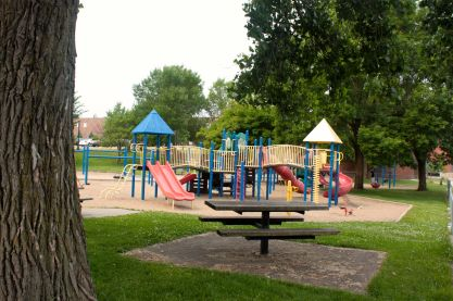 Oxford has a playground for younger children.