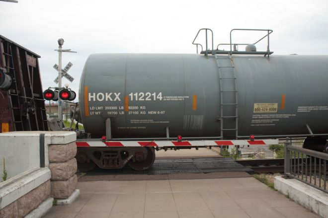 If you're a train-lover, this is a great spot to watch because you can get very close to passing freights.