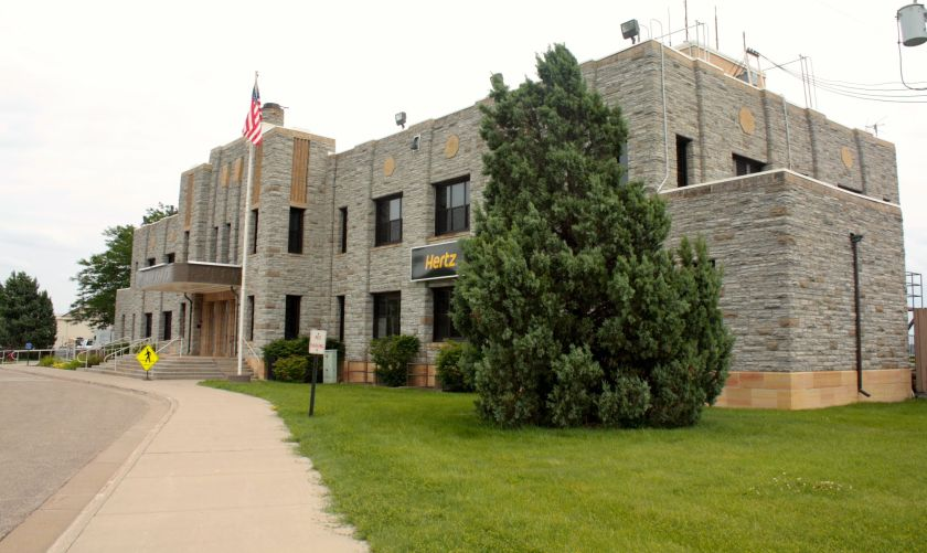 """The limestone airport building is another of the many structures in Saint Paul designed by Clarence """"Cap"""" Wiggington and built as a WPA project. It opened in 1939."""