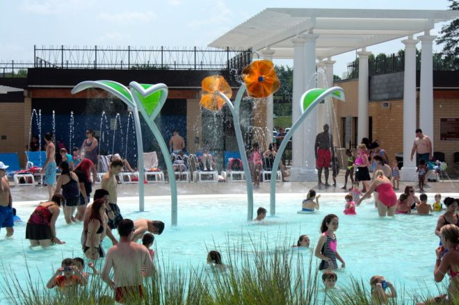 The always energetic children's activity pool.