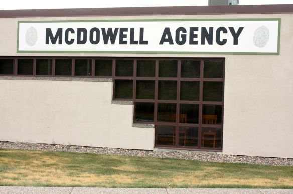 "The sign on this plain building gives a clue as to what the McDowell Agency does. On either side of the sign, you'll notice, are fingerprints, and the company is a private investigation firm that specializes in background investigations, according to the website. It goes on to say products and services include ""criminal background screening"" and the nebulous ""additional verification services"" and ""industry specific services."""