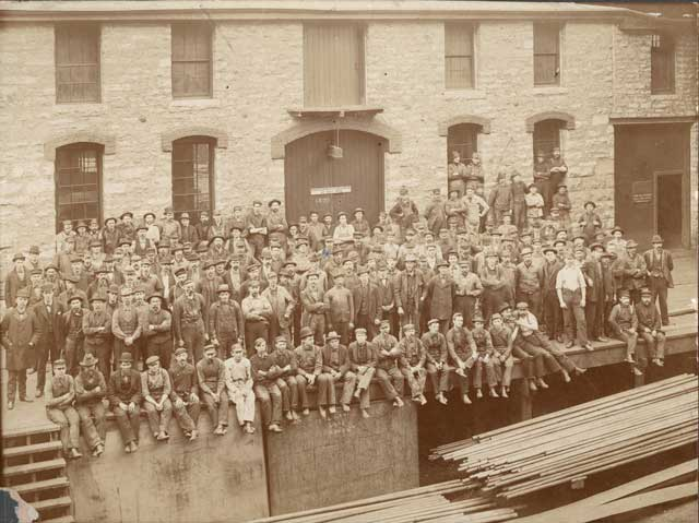 American Hoist and Derrick workers posed for this picture in 1899.