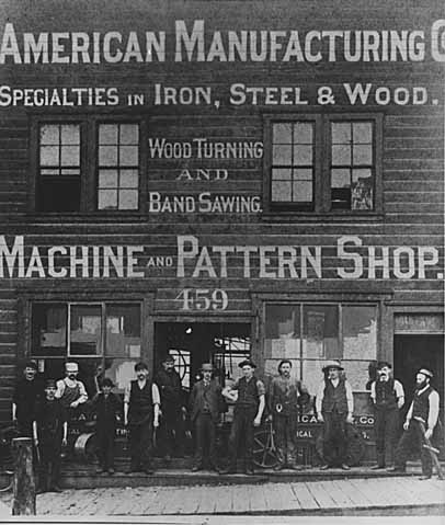 When this photo was taken in 1882, the company name was a few years from being changed to American Hoist and Derrick.
