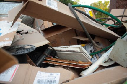 ...and a dumpster full of debris.