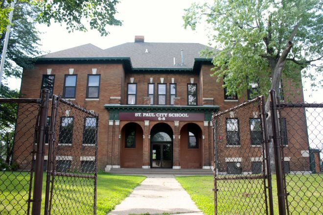 This vintage school building just around the corner from St. Vincent de Paul is the church's former school. It opened in 1901 and graduated its last class in 1970.